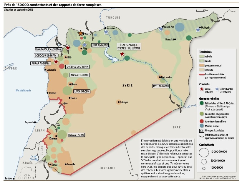 syrie carte guerre Archives - Voyages - Cartes